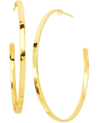 Silpada 'Circle Up' Hammered Hoop Earrings in 18K Gold-Plated Sterling Silver