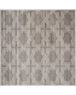 Safavieh Amherst Gray/Light Gray 7 ft. x 7 ft. Indoor/Outdoor Square Area Rug