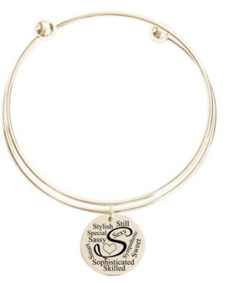 Initial Double Layer Bangle - S
