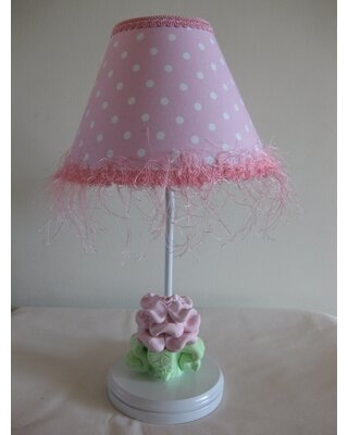 """Baby Pink Flower 16"""" Table Lamp Silly Bear Lighting Shade: Baby Pink Flower"""
