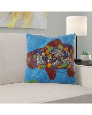 Ebern Designs Farryn Fish Throw Pillow W000384882 Cover Material: Microsuede Location: Indoor