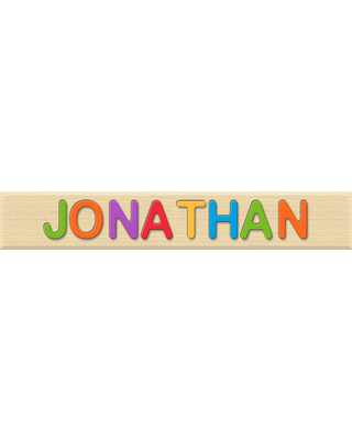 Personalized Name Puzzle - JONATHAN - Early Learning Toys for Babies - Fat Brain Toys