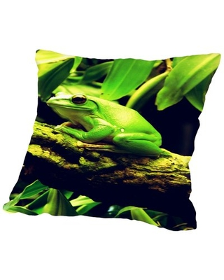 """Frog Animal Throw Pillow East Urban Home Size: 20"""" H x 20"""" W"""