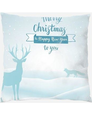 The Holiday Aisle Redbrook Merry Christmas Indoor/Outdoor Canvas Throw Pillow W000950488
