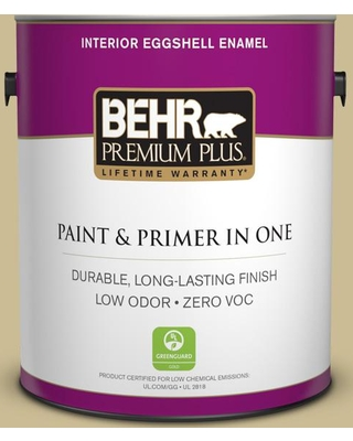 BEHR Premium Plus 1 gal. #M330-4 Morning Tea Eggshell Enamel Low Odor Interior Paint and Primer in One