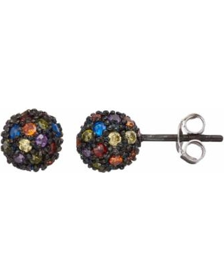 Sophie Miller Cubic Zirconia & Lab-Created Blue Spinel Ball Stud Earrings, Women's