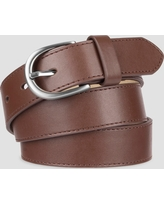 Women's Faux Leather Belt - A New Day Brown S