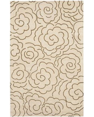 "Bloomsbury Market Tatyana Hand-Tufted Beige Area Rug BLMT1879 Rug Size: Rectangle 7'6"" x 9'6"""