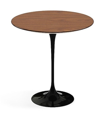 Saarinen Round Side Table by Knoll - Color: Brown - Finish: Walnut - (163TR-LWA-1)