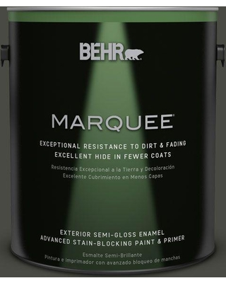 BEHR MARQUEE 1 gal. #ecc-47-3 Twilight Forest Semi-Gloss Enamel Exterior Paint and Primer in One
