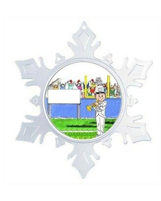 The Holiday Aisle Personalized Friendly Folks Cartoon Snowflake Marching Band Trumpet Christmas Holiday Shaped Ornament X112990886