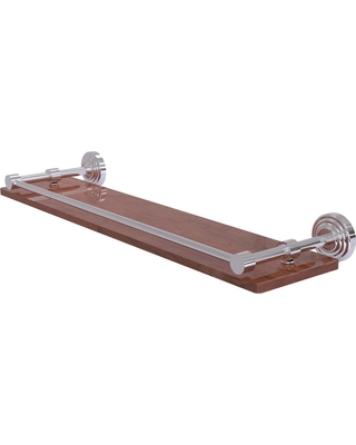 Allied Brass Waverly Place Collection 22 in. Solid IPE Ironwood Shelf with Gallery Rail in Polished Chrome
