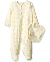 Little Me Baby Infant Footie and Hat, Yellow Print, 9 Months
