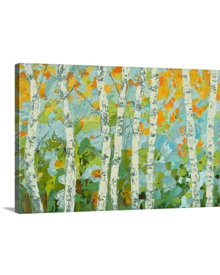 GreatBigCanvas Autumn Dancing Birch Tree by Ann Marie Coolick Canvas Wall Art, Multi-Color