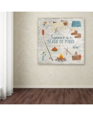 "Millwood Pines 'Summer Sunshine I' Graphic Art Print on Wrapped Canvas MIPN1268 Size: 18"" H x 18"" W"
