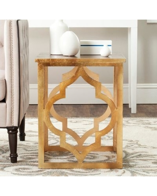 Safavieh Milo End Table in Gold