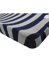 Burt's Bees Baby Organic Changing Pad Cover - Stripe - Blueberry