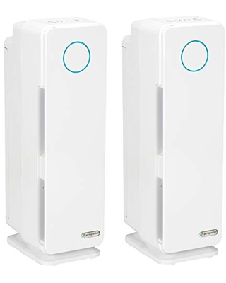 Germ Guardian True HEPA Filter Air Purifier, UV Light Sanitizer, Eliminates Germs, Filters Allergies, Pets, Pollen, Smoke, Dust, Mold, Odors, Quiet 22 inch 5-in-1 Air Purifier for Home AC4300WPT, 2PK