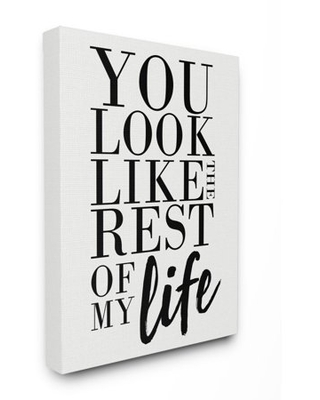 Stupell Industries You Look Like Romantic Family Word Design Canvas Wall Art by Erica Billups