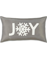 Eastern Accents Dreaming of a White Christmas Snowflake Joy Lumbar Pillow ATE-326
