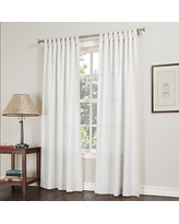 "No. 918 Trevor Semi Sheer Tab Top Curtain Panel, 40"" x 63"", White"