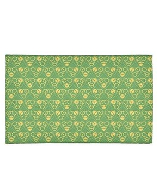 East Urban Home Circles and Waves Green/Yellow Area Rug EBKQ8027 Rug Size: Rectangle 9' x 12'