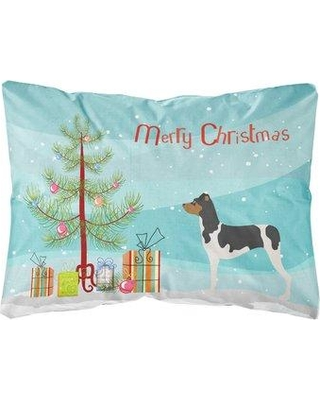 The Holiday Aisle Gerke Brazilian Terrier Christmas Indoor/Outdoor Throw Pillow BF148691