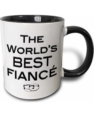 "East Urban Home The Worlds Best Fiancé Coffee Mug W001089520 Size: 3.75"" H x 4"" W x 3"" D Color: Black"