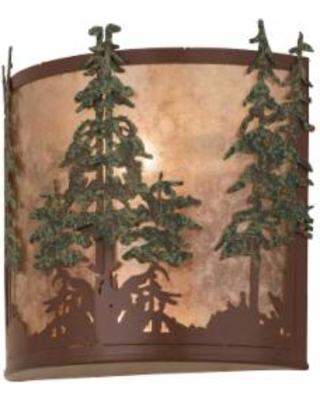 Meyda Lighting Tall Pines 12 Inch Wall Sconce - 29327