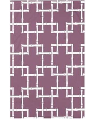 "Bay Isle Home Connelly Bamboo 1 Geometric Fleece Throw BAYI3260 Size: 60"" L x 50"" W x 0.5"" D Color: Purple"