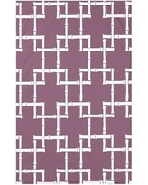 """Bay Isle Home Connelly Bamboo 1 Geometric Fleece Throw Blanket BAYI3260 Size: 60"""" L x 50"""" W x 0.5"""" D, Color: Purple"""