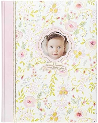 64 Pages 9 W x 11.125 H C.R Gibson Perfect-Bound Blue Leather Memory Book for Newborn and Baby Boys