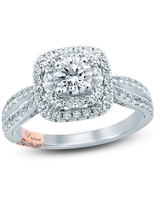 Jared The Galleria Of Jewelry Pnina Tornai This Is It Diamond Engagement Ring 1-5/8 ct tw Marquise/Round 14K Two-Tone Gold