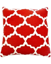 India's Heritage Cotton Woven Throw Pillow INHR1380 Color: Red