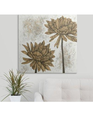 "Great Big Canvas 'Washed Dahlias II' Megan Meagher Painting Print 2432758_1_ Size: 20"" H x 20"" W x 1.5"" D Format: Canvas"