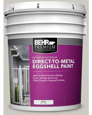 Amazing Deal On Behr Premium 5 Gal 790c 3 Dolphin Fin Eggshell Direct To Metal Interior Exterior Paint