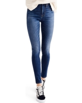 Women's Madewell 10-Inch High Rise Skinny Jeans, Size 25 - Blue