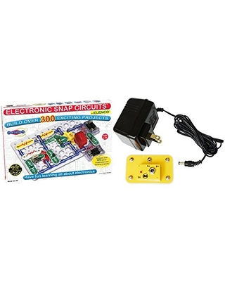 Snap Circuits SC-300 Electronics Discovery Kit with Snap Circuits Battery Eliminator Bundle