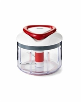 Zyliss Easy Pull Food Chopper and Manual Food Processor - Vegetable Slicer and Dicer - Hand Held - White