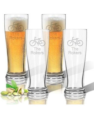 Carved Solutions Tritan Bike 14 oz. Pilsner Glass ACL-TPIL14S4-PD-HisBike