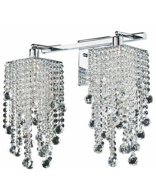 Everly Quinn Cohen-Arazi Crystal Square 2-Light Armed Sconce W000869032