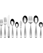 Mikasa Satin Loft 65-Piece Stainless Steel Flatware Set with Serveware, Service for 12