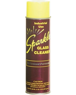 Sparkle Glass Cleaner, Unscented, 20 oz. Aerosol Can | Quill