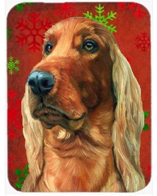 The Holiday Aisle Ashlynn Irish Setter Glass Cutting Board HDAY2373 Color: Red/Green