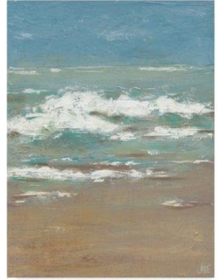 d299e19305896 Highland Dunes  Beach Waves I  Acrylic Painting Print on Wrapped Canvas  W000017043 Size