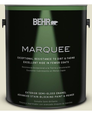 BEHR MARQUEE 1 gal. #S350-1 Climate Change Semi-Gloss Enamel Exterior Paint and Primer in One