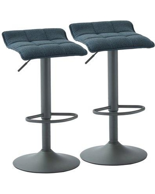 Fabulous Ebern Designs Ebern Designs Ean Adjustable Height Swivel Bar Stool Bi160642 Upholstery Blue From Wayfair Bhg Com Shop Gmtry Best Dining Table And Chair Ideas Images Gmtryco