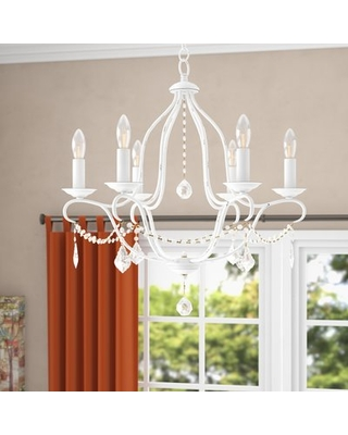 Bayfront 6-Light Candle Style Empire Chandelier Astoria Grand Finish: Antique White