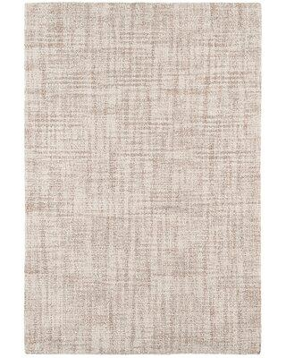 Dash and Albert Rugs Crosshatch Hand-Hooked Wool Ivory Area Rug DA1004- Rug Size: Rectangle 10' x 14'