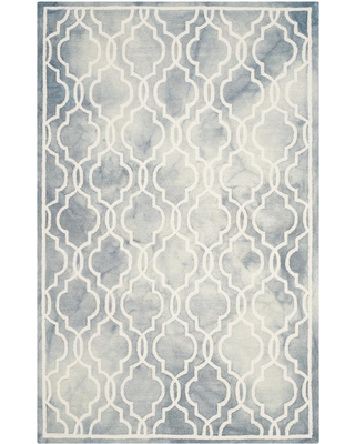 Safavieh Dip Dye Gray/Ivory 6 ft. x 9 ft. Area Rug